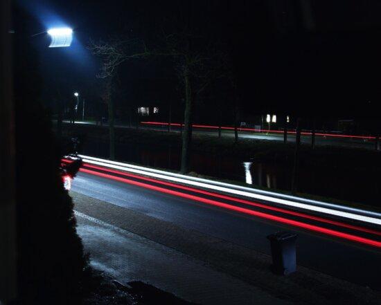 car, lights, city, night, dark, evening, fast, highway,