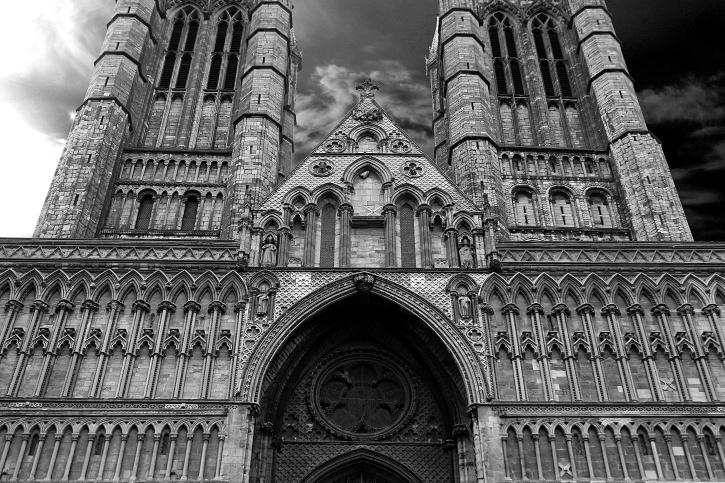 Igreja Católica, da Catedral, o templo, o antigo, arcos, arquitetura