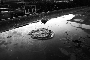 basketball court, drops, water, splash, wet