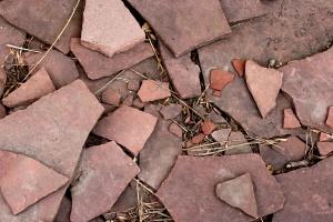 lastricato rotto, rosso, lastricato, pietre, tessitura