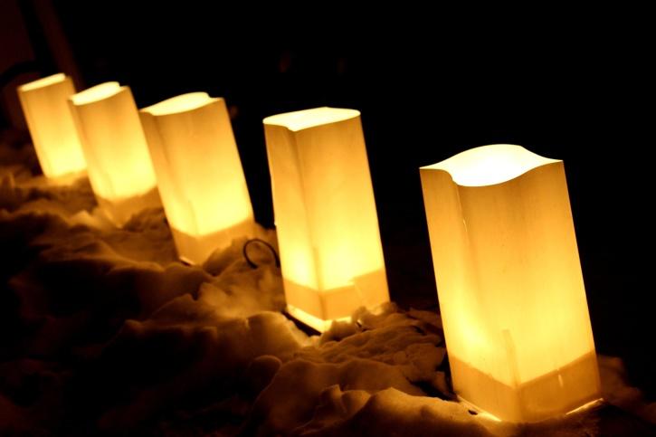 lampade elettriche, luminare, borsa, luci, notte
