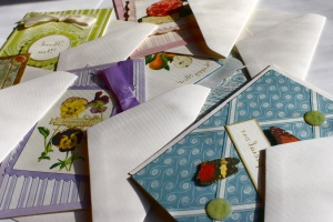 greeting cards, envelope, paper