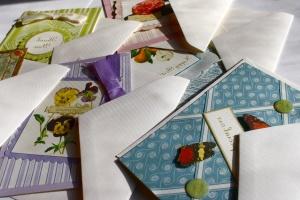 ευχετήριες κάρτες, φάκελα, χαρτί