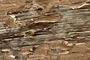 peeling color, brown painted plank, texture