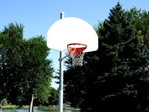 basketball hoop, basketball court, playground