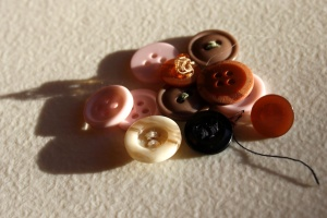 colorful, sewing buttons