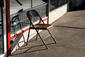metal chair, outdoor, furniture