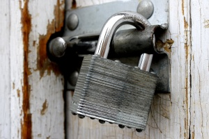 Stari lokot, vrata, zaključavanje, sigurnost, čelik
