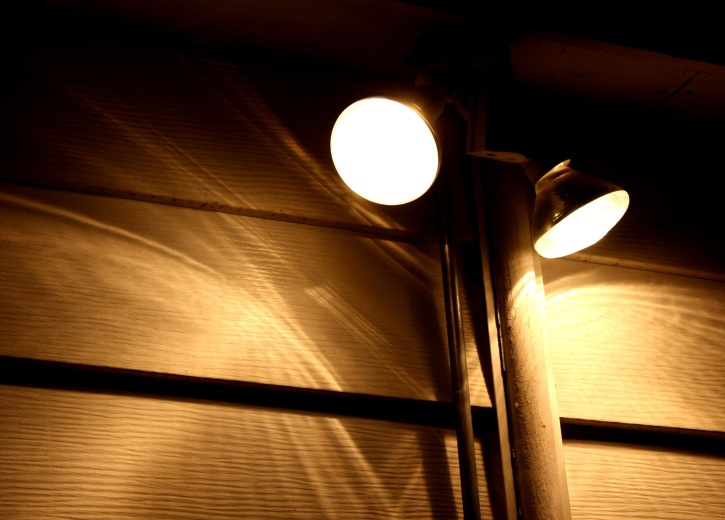 security, street lamps, night, dark