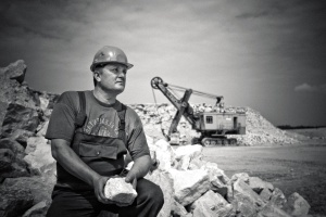 man, construction worker, grayscale, photography, worker