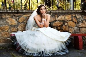 robe de mariée, mariée, robe blanche, femme, mariage