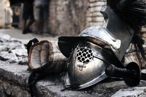 armatura cavaliere, armatura metallica, antica, arena, battaglia