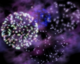 fireworks, 3D computer art