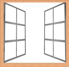 window, frame, computer art