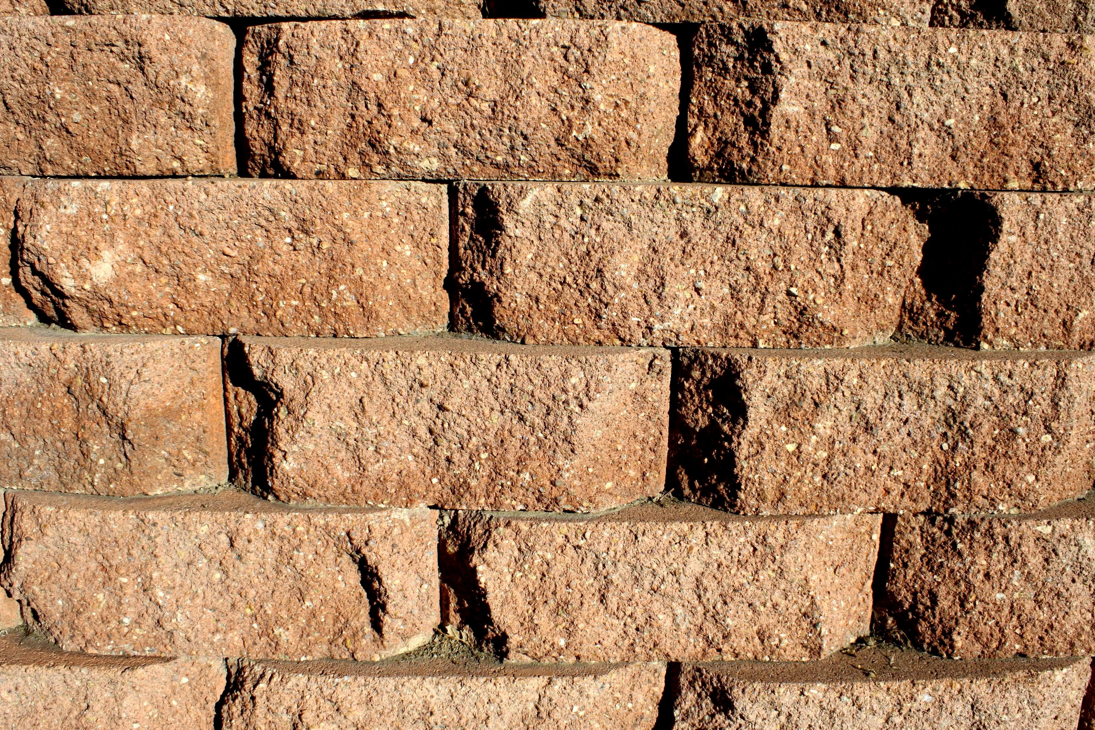 Free Picture Brown Brick Retaining Wall Texture