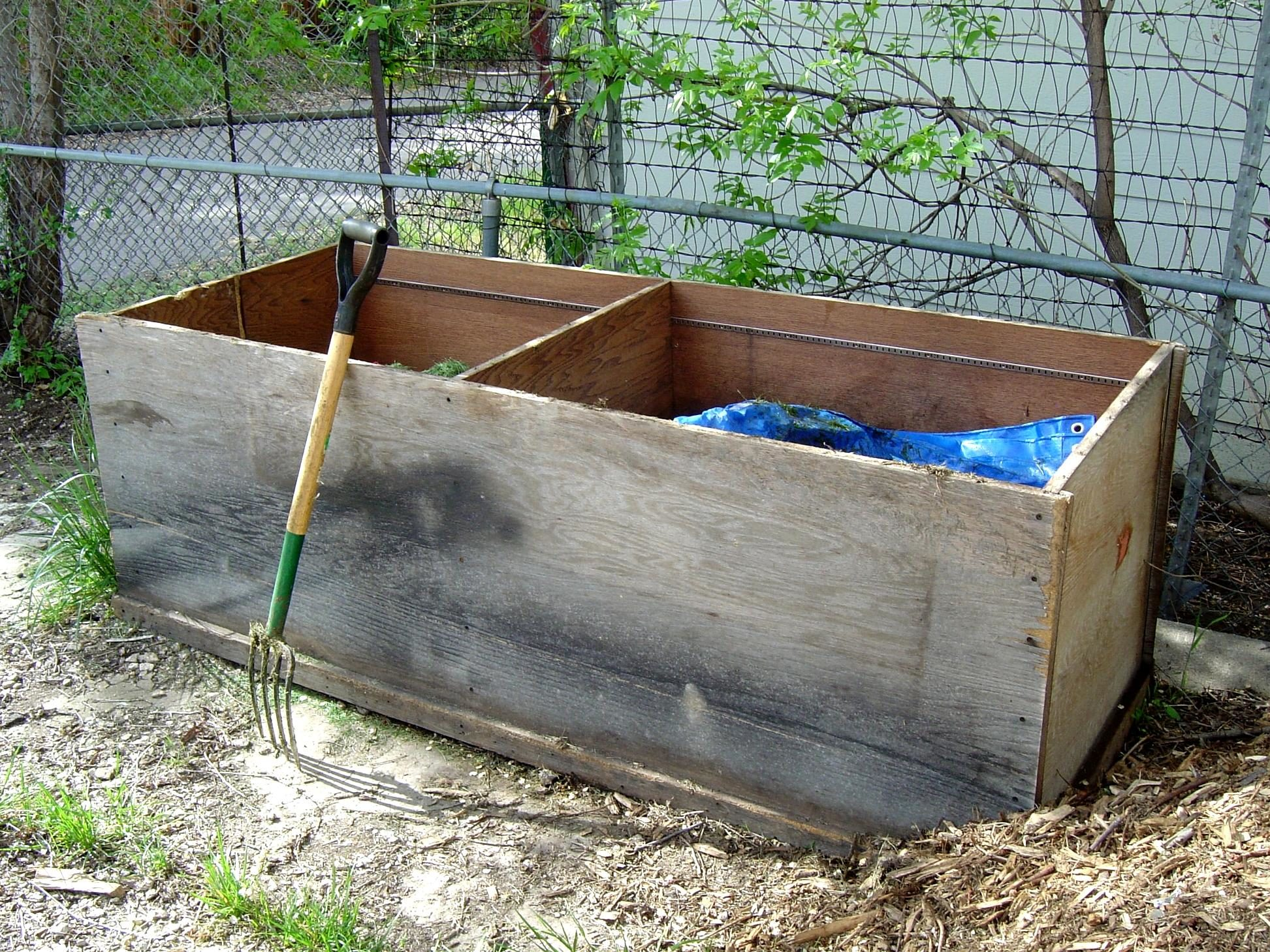 free picture compost bin pitchfork backyard