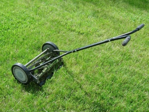 mower, green grass, lawn, object