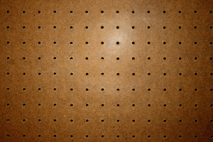 pegboard, wooden board, holes, texture