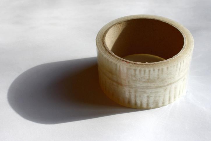 transparent tape, plastic, packing tape