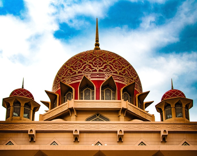 Asia, sacred place, temple, blue sky, tourist attraction, windows