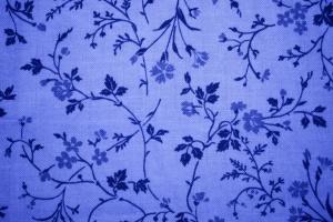 blue, floral design, print, fabric, texture