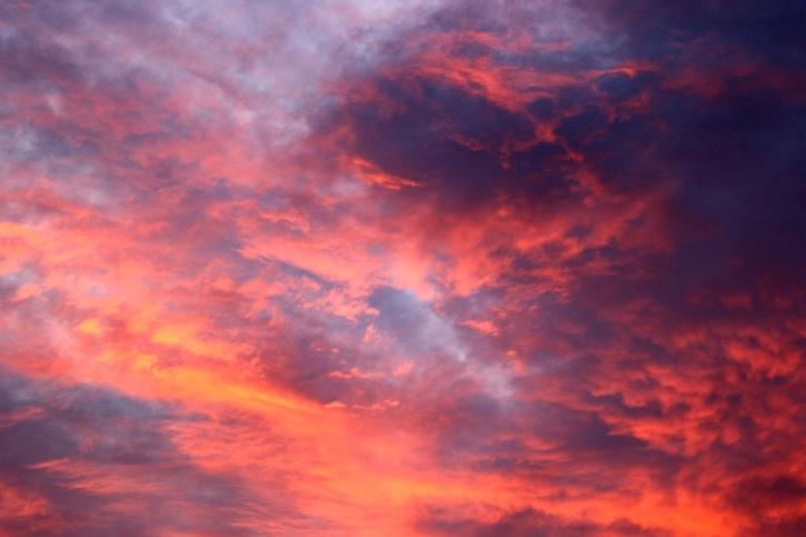 clouds, sunrise, dark sky
