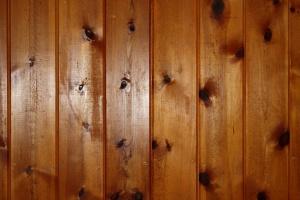nudo de madera, tablones de pino, pared, textura