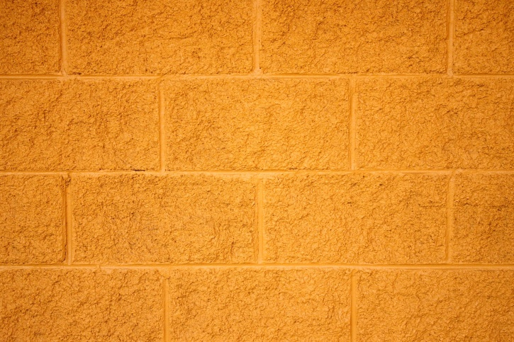 yellow painted bricks, cinder block, wall, texture