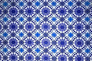 blue textil, floral texture, patern