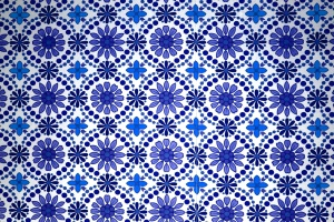 blu tessile, trama floreale, patern