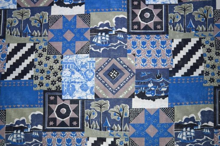 blue, textil, patchwork, quilt, fabric, texture