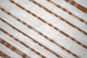 dishcloth, brown, white, diagonal stripes, fabric, texture