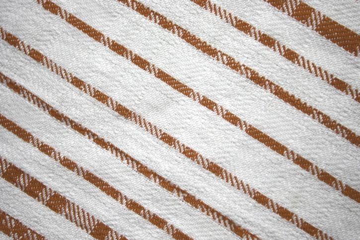 dishcloth, brown, white, diagonal stripes, fabric, texture