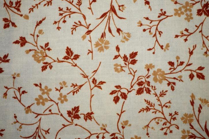 brown, white, floral design, print, fabric, textil, texture