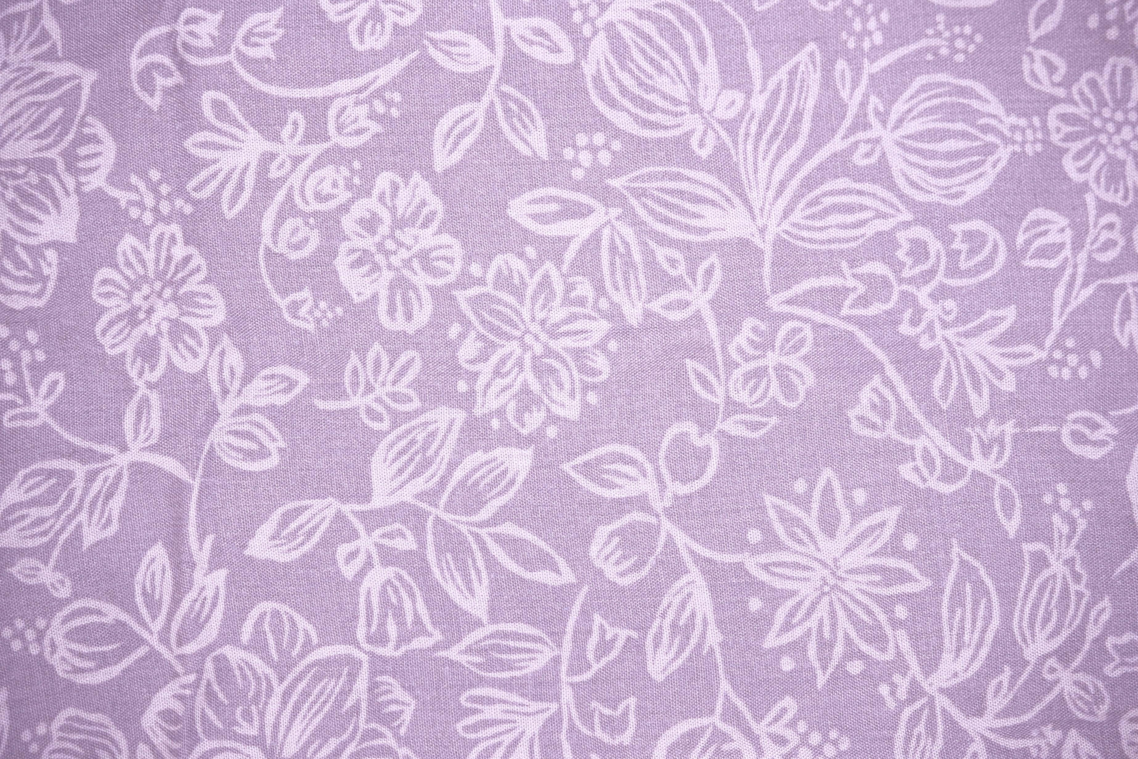 Free picture: dusty, purple colored fabric, floral design