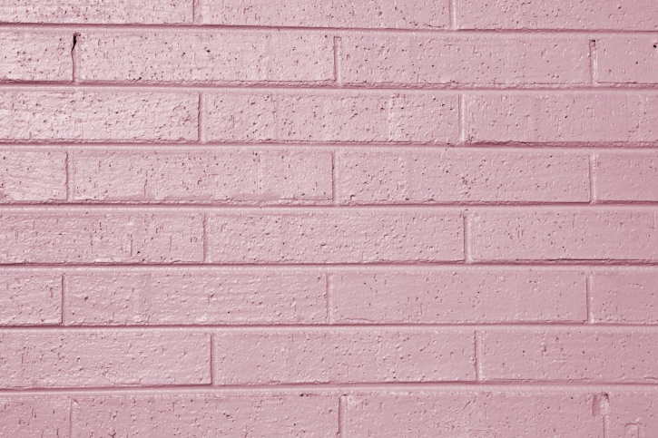 mauve color, painted brick wall, texture