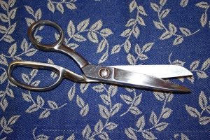 sewing scissors, hand tool, stainless steel, textil