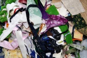 male komadiće, textil, otpad, tkanina