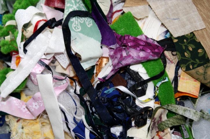 small pieces, textil, scrap, fabric