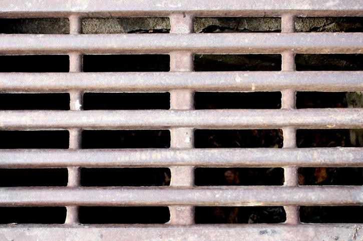drain hole, grate, metal, texture