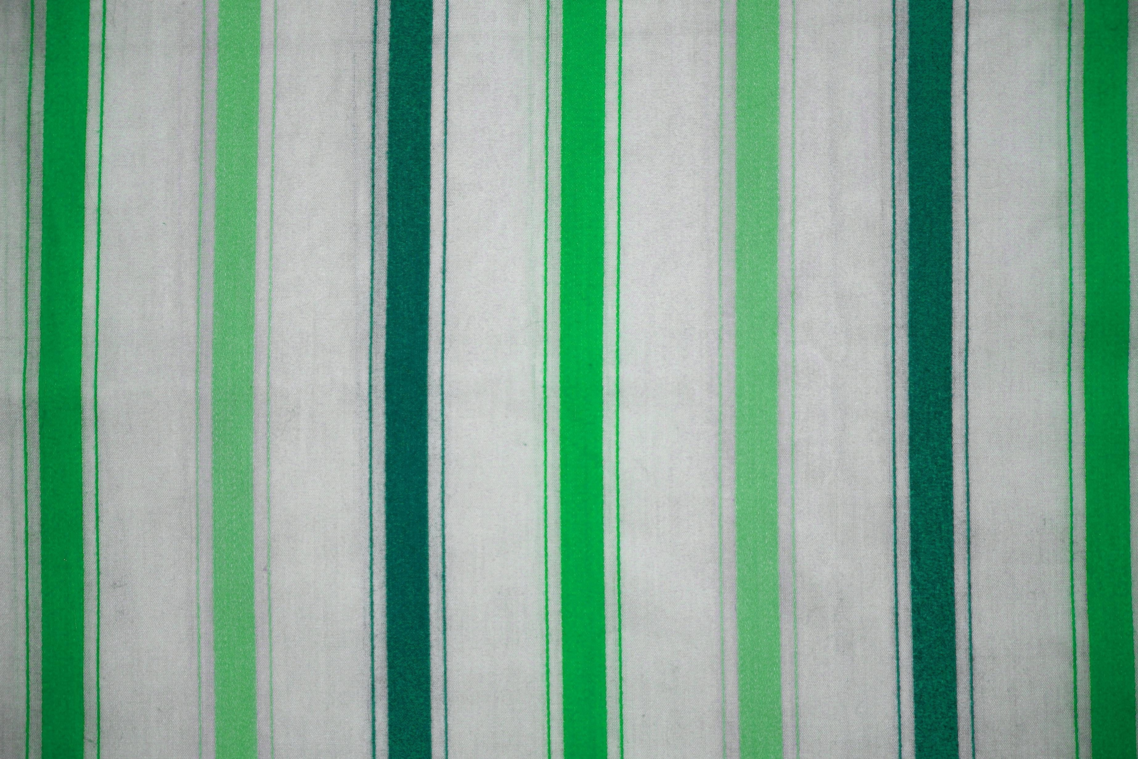 Striped Design Textil Dishcloth Fabric Texture Green White