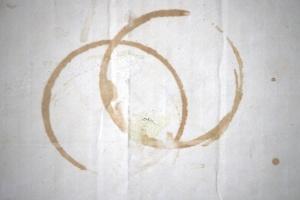 dva kruga, obojeni, krug, bijeli, karton, papir, kutija, tekstura