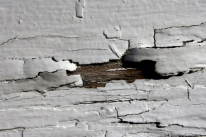 white paint, wood, cracks, texture