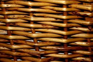 wicker basket, close, texture, wood, pattern