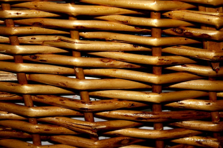 wicker basket, close, texture, wood, pattern