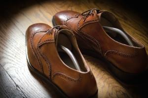 chaussures en cuir, brun, classique, chaussures élégantes, la mode