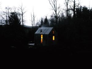 bungalow, environnement, forêt, maison en bois, Voyage