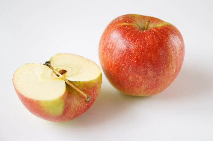 apple, half slided, fruit, diet, dietary, food