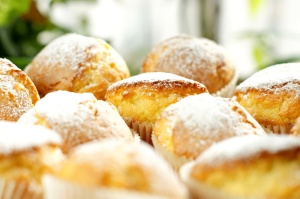 muffin, ditaburi, keringat, diet, makanan penutup, makanan gula