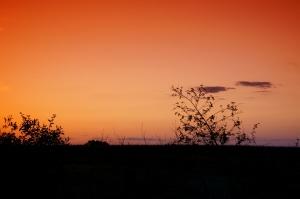 céu vermelho, pôr do sol